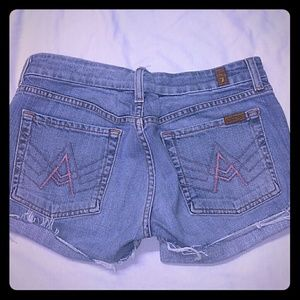 7 For All Mankind 32 Shorts Pink A Pocket